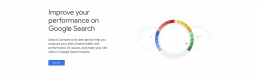 google's homepage updated search console